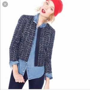 Like new j.crew midnight tweed  jacket